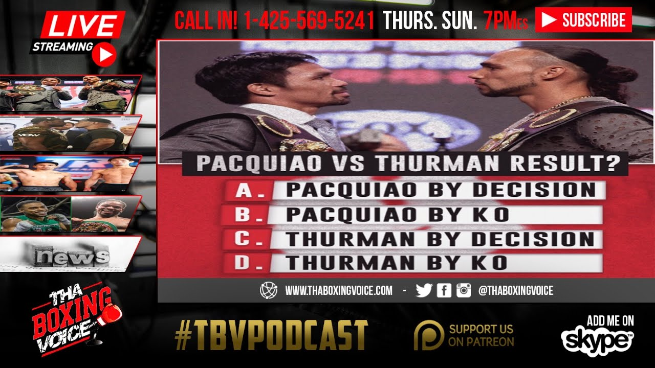 Pacquiao vs. Thurman 2019: Final Odds and Predictions for Title Fight