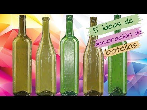 5 IDEAS DE DECORACIÓN DE BOTELLAS