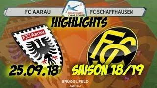 Highlights: Fc Aarau vs Fc Schaffhausen (25.09.18)