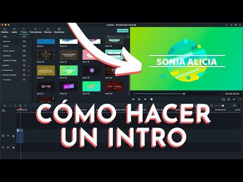 CÓMO HACER UNA INTRO PARA VIDEOS DE YOUTUBE (LO MÁS FÁCIL!!!! 😍😍😍)