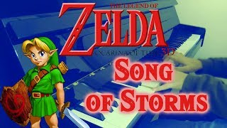 The legend of Zelda  Ocarina of time - Song of storms | Piano cover