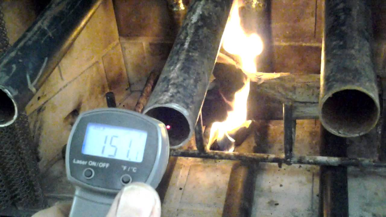 Fireplace heat exchanger - Homemade - YouTube