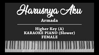 Harusnya Aku - Armada (FEMALE KARAOKE PIANO) Slow Version