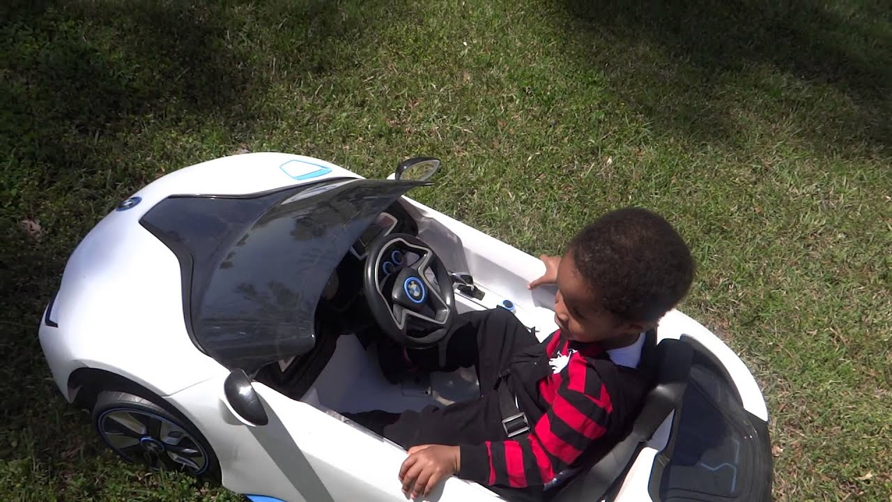 Baby driving his BMW i8 Concept Car