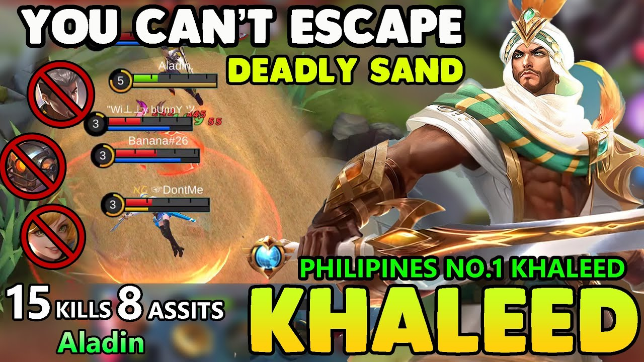 YOU CAN'T ESCAPE!!TOP 2 GLOBAL KHALEED BEST BUILD 2020 -KHALEED MOBILE LEGENDS