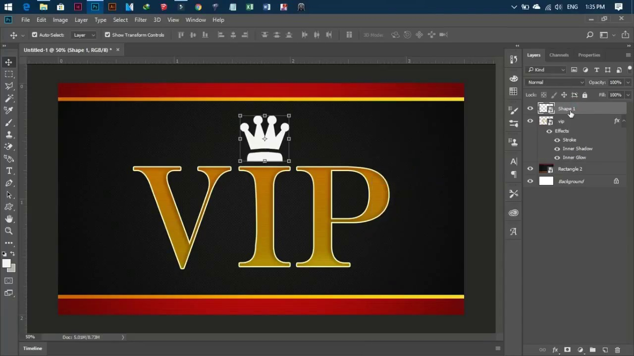 Photoshop cc tutorial, How to make business card in photoshop, how ...