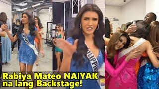 Rabiya Mateo REAKSYON Backstage Matapos ang Miss Universe 2021