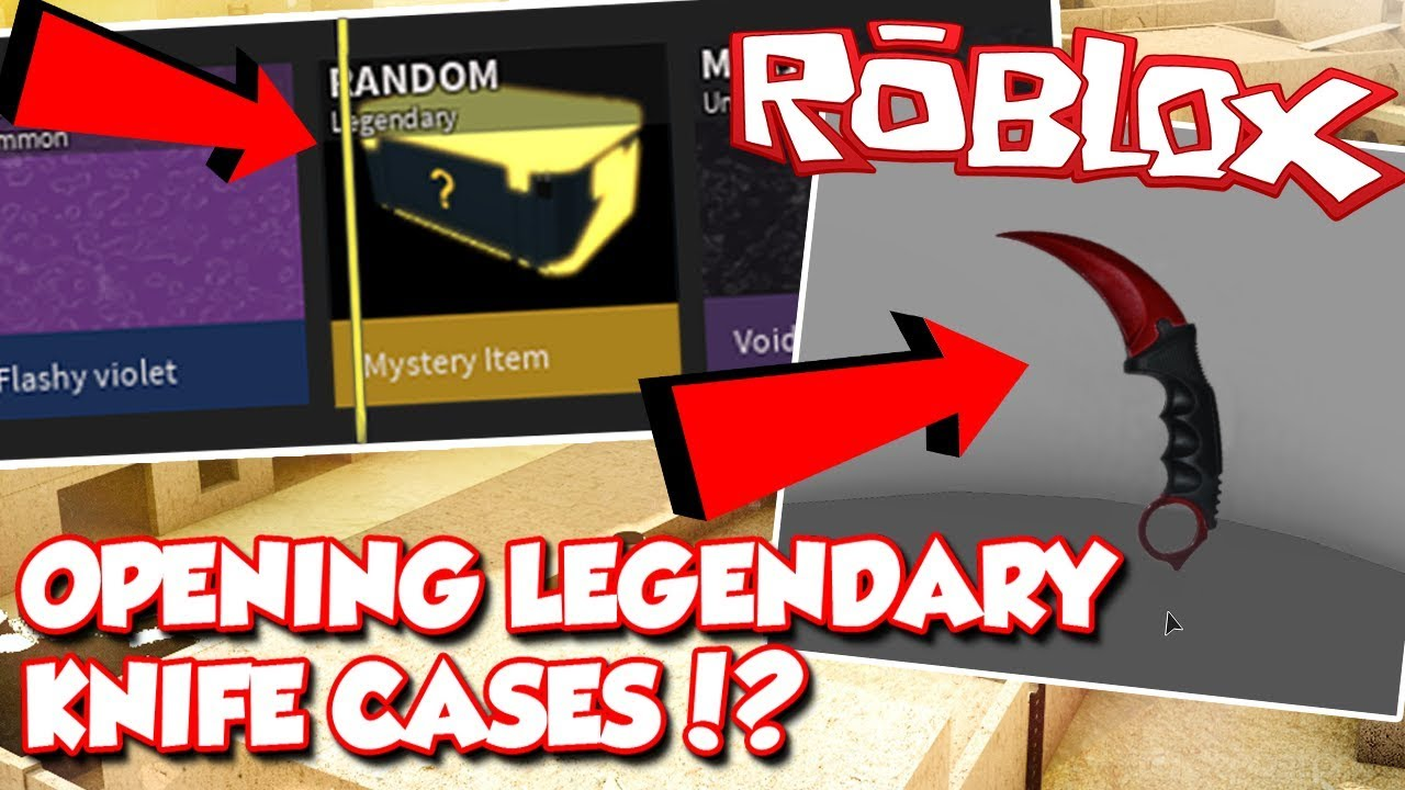 LEGENDARY KNIFE CASES OPENING IN ROBLOX PHANTOM FORCES ...
