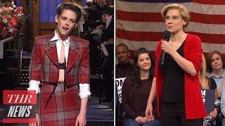 'SNL' Recap: Kristen Stewart Takes the Stage, Kate McKinnon as Elizabeth Warren & More | THR News