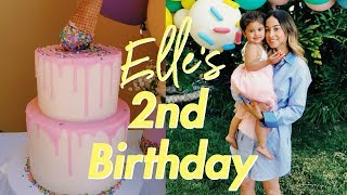 ELLE'S SECOND BIRTHDAY PARTY W/ THE ACE FAMILY!!! |Dessert Table + Vlog| LaurensPastriesCakes
