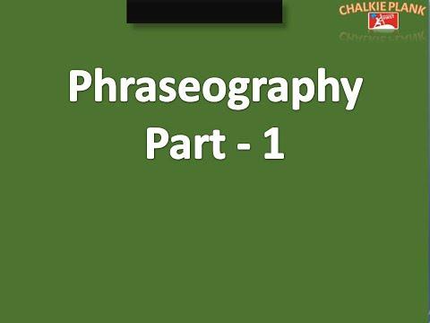 Phraseography part 1