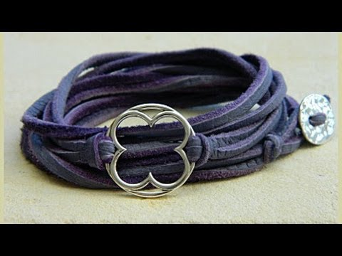 Jewelry How To Make Leather Wrap Bracelets