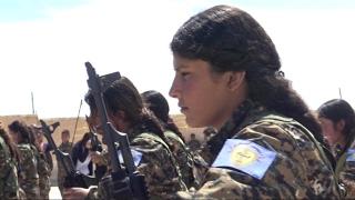 خاص | معسكر لإعداد نساء عربيات لقتال #داعش في ريف #حلب
