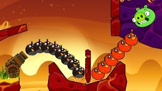 Angry Birds Cannon Birds 3 - OVERDRIVE SHOOTING 100 BOMB BIRDS TO BLAST PIGGIES!