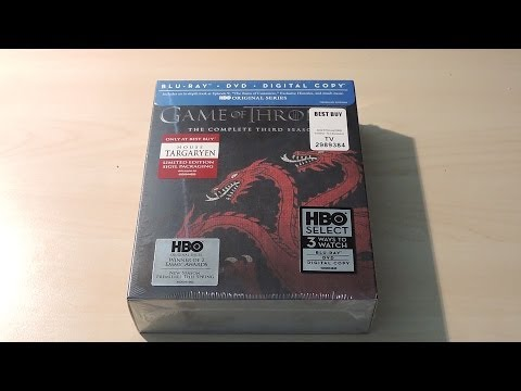 Game of Thrones Season 3 Blu-Ray Unboxing...