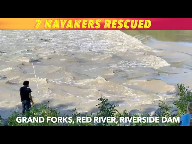 UPDATE: 7 Kayakers Rescued From Red River In Grand Forks Sunday Evening