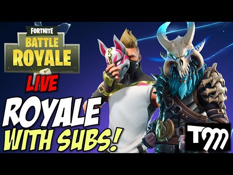 SUBS CARRY ME TO ROYALE - Fortnite: Battle Royale Season 5 LIVE (Xbox One)