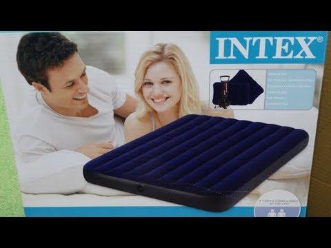 Супер находка в магазине Галамарт | надувной матрац Intex с ручным воздушным насосом