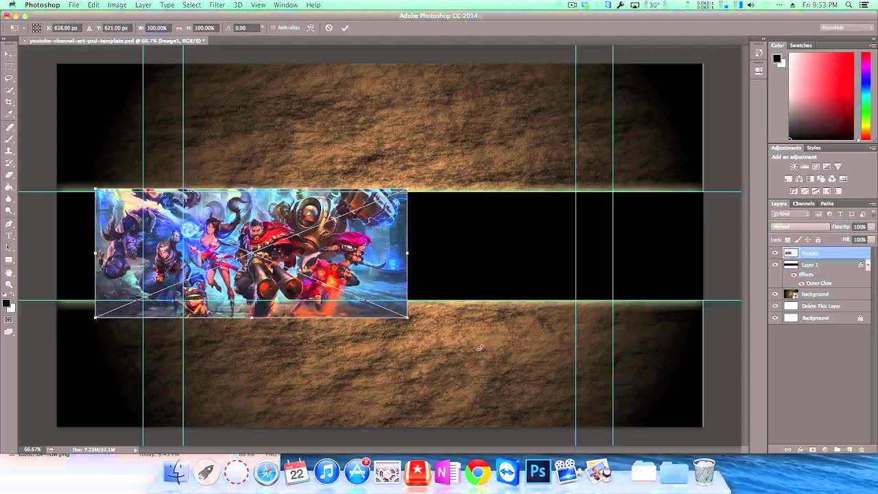 How to Make a League of Legends YouTube Banner - YouTube