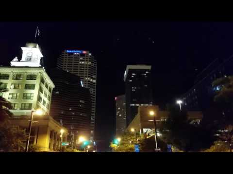 A Night Drive Through Downtown Tampa.