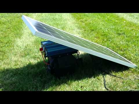 Solar Power Generator Setup From SaferWholesale.com