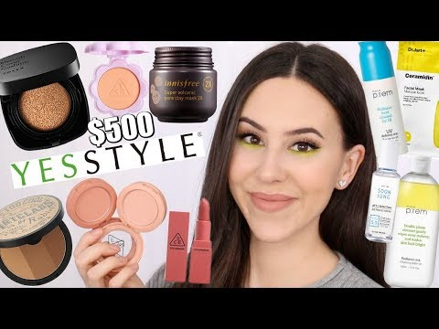 $500 KOREAN/ASIAN MAKEUP/SKINCARE HAUL || YesStyle Haul 2019 thumbnail