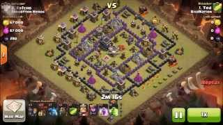 Attack 3 | LAVALOONION ATTACK TH 9 | 3 Star Strategy | Clash of Clans | Clan Wars