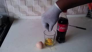 see what happens if you mix Coca Cola with Egg