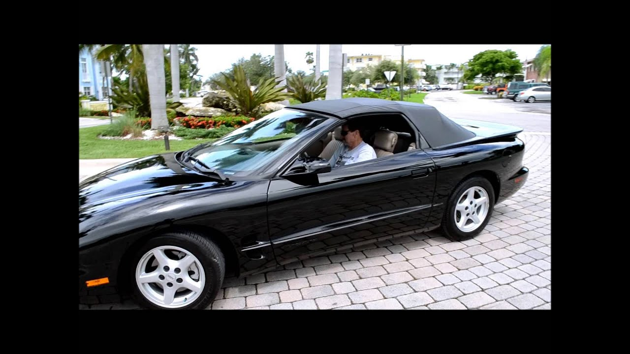 1998 pontiac firebird convertible for sale youtube. Black Bedroom Furniture Sets. Home Design Ideas