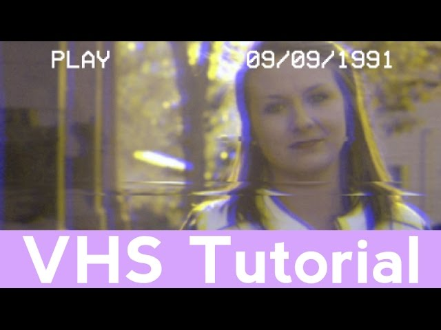 How To Make A VHS Look Effect No Plugin   Easy After Effects Tutorial