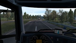 A trip for Coos Bay to Eureka on the ATS map using the Late Autumn/Mild Winter v2.0 mod.  https://grimesmods.wordpress.com/2017/04/01/mild-winter-weather-mod-ats/