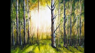Forest Painting Watercolor Tutorial