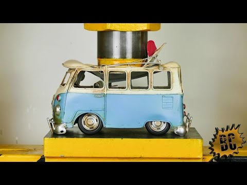 IRON TOYS CARS vs HYDRAULIC PRESS 100 TON