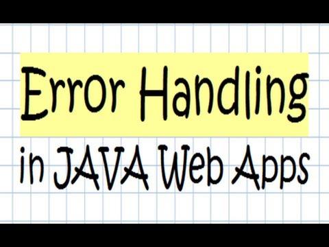 Error Handling In JAVA Web Application - Tutorial