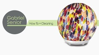 Gabriel - Glass Decorated Ultrasonic Diffuser w/ LED lights. Use w/ Essential Oils & Aromatherapy