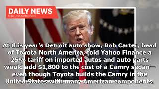 Daily News - Trump is about to clobber the auto industry