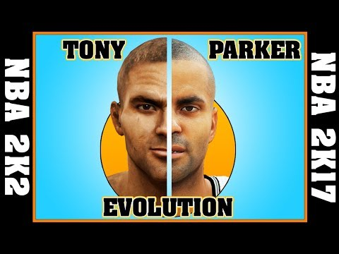TONY PARKER evolution [NBA 2K2 - NBA 2K17] 🏀