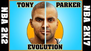 TONY PARKER evolution [NBA 2K2 - NBA 2K17] 🏀