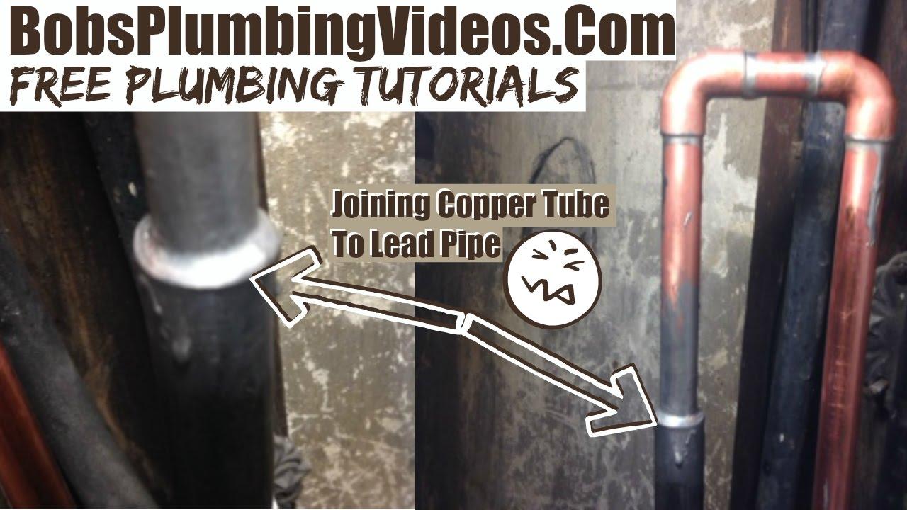 Water Pipe Leak Repair Joining Copper Amp Lead Youtube