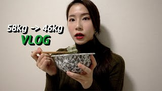 Eng)다이어트브이로그/12kg 감량 후 46kg 유지…