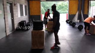 Group Crossfit - Box Jumps For Max Height
