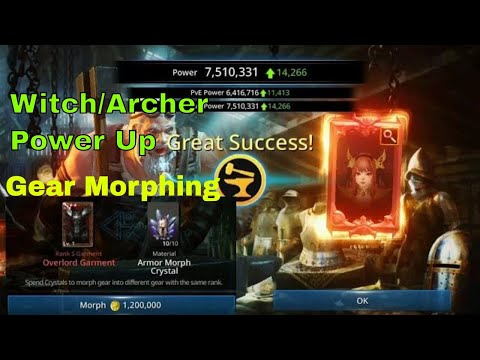 Darkness Rises tips and tricks: Gear Morphing & Witch/Archer Power Up!