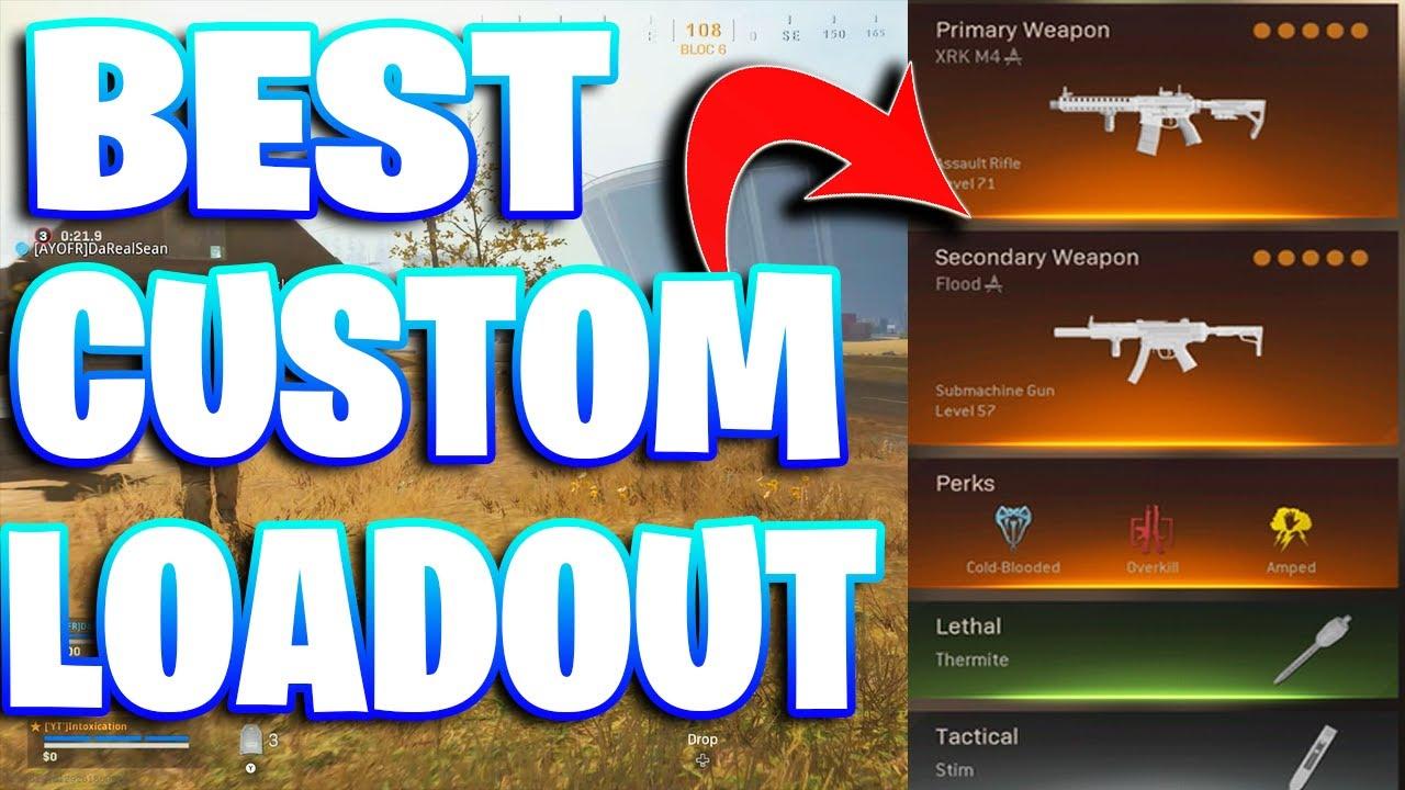 Best Custom Loadout For Warzone Youtube