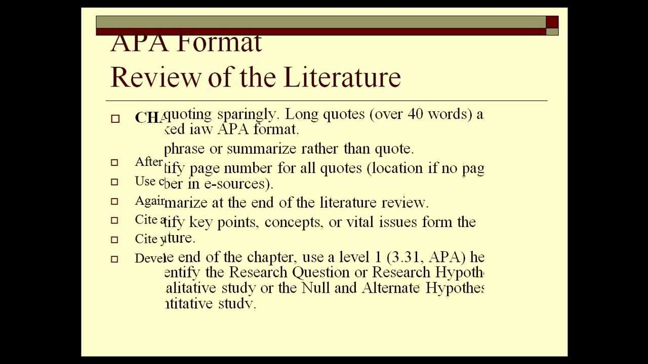 apa format for reports