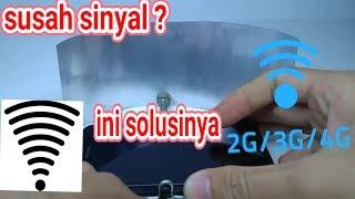 cara membuat penguat sinyal HP wifi,3g,4g