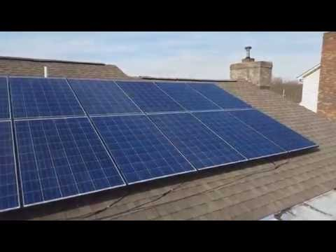 Solar Roofing Rack And Solar Panels 3000 Watts
