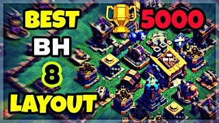 BEST BH8 BASE LAYOUT WITH REPLAY | BUILDER HALL 8 BEST BASE LAYOUT IN COC | CLASH OF CLANS