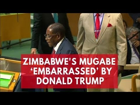 Zimbabwe's Mugabe embarrassed by 'biblical giant gold goliath' Donald Trump