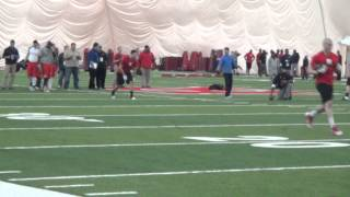 2014 Rutgers Pro Day: WR Drills Featuring Brandon Coleman