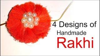 Handmade Rakhi deisgn - handmade rakhi/handmade rakhi with straw|rakhi diy- Tuber Tip